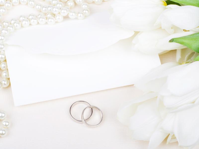 可愛い結婚招待状