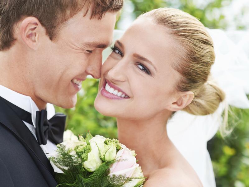 幸せオーラ全開の花嫁