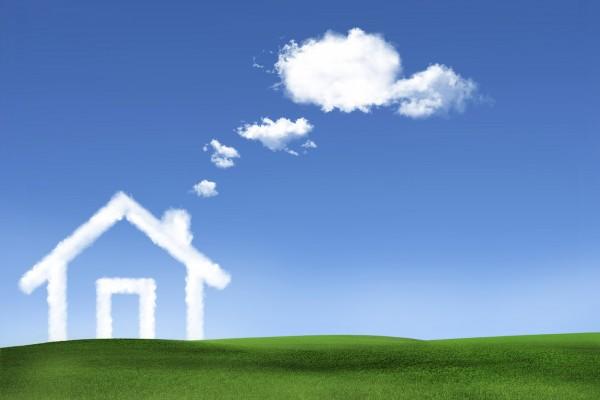 雲で出来た家