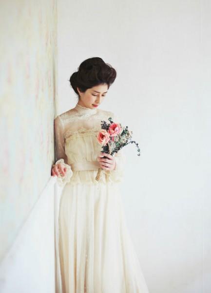 ヴィンテージドレスの花嫁