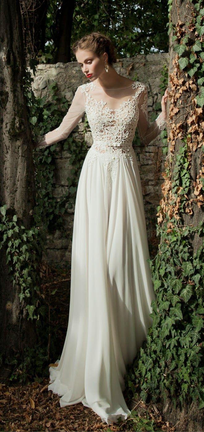 袖 あり ウェディング ドレス