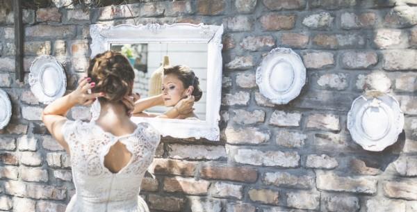 Bride in retro surroundings