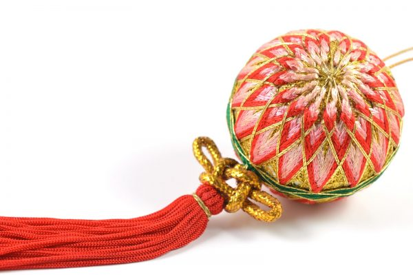 A handicraft ball in traditional Japanese style