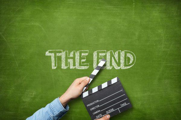Movie Clapperboard front of blackboard